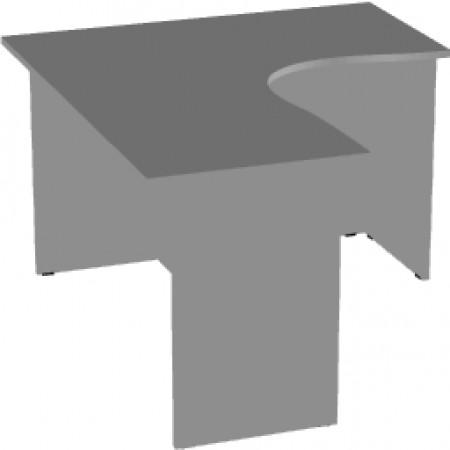 Стол эргономичный Арго А-204,60, правый, 140*120*76, серый