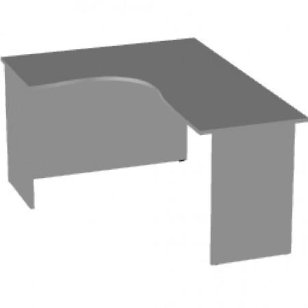 Стол эргономичный Арго А-206,60, левый, 160*120*76, серый