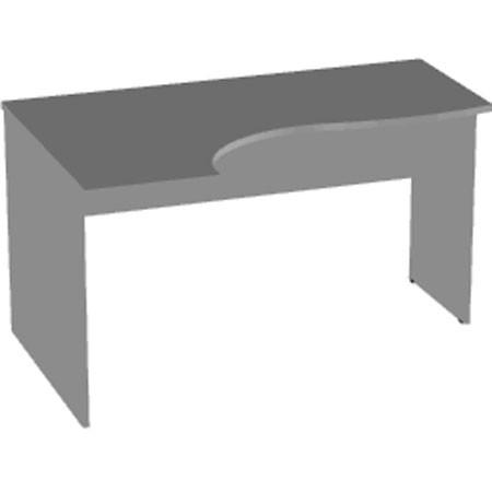 Стол  эргономичный Арго А-200 левый, 140*90/73*76, серый