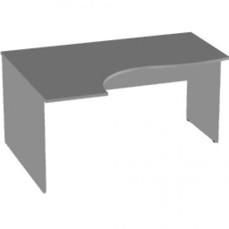 Стол эргономичный Арго А-201, левый, 160*120/73*76, серый