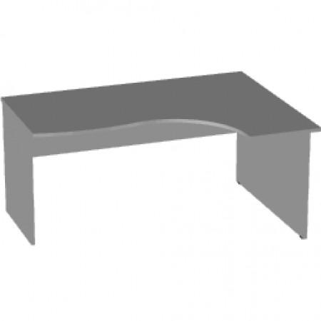 Стол эргономичный Арго А-201, правый, 160*120/73*76, серый
