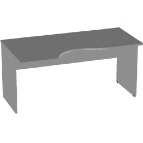 Стол эргономичный Арго А-202, левый, 160*90/73*76, серый