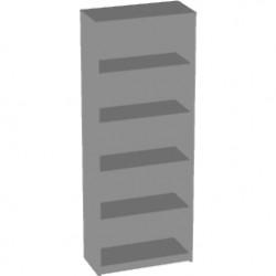 Стеллаж высокий Арго А-306, 77*37*200, серый