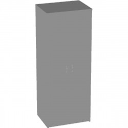 Шкаф для одежды Арго А-307, 77*58*200, серый