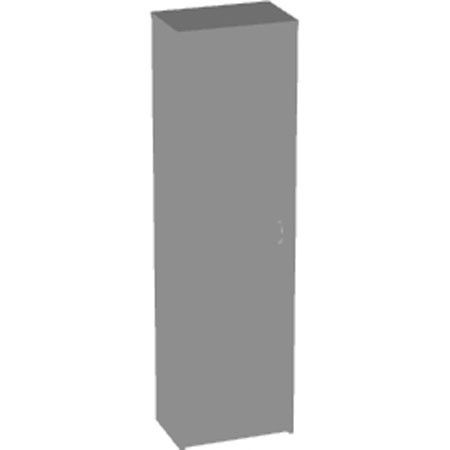 Шкаф для одежды Арго А-308, узкий, 55*37*200, серый
