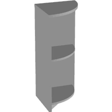 Стеллаж низкий Арго А-322, угловой, 37*37*85, серый