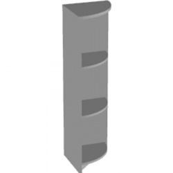 Стеллаж средний Арго А-324, угловой, 37*37*122, серый