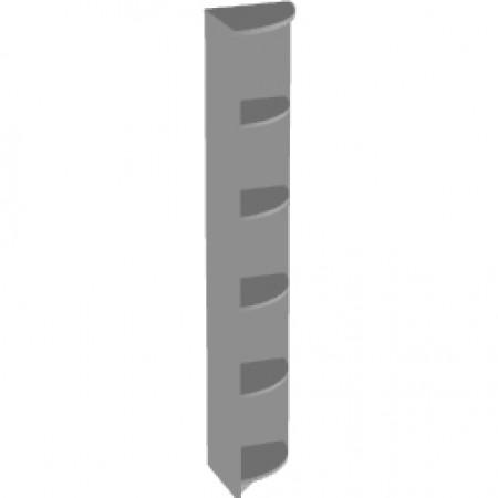 Стеллаж высокий Арго А-326, угловой, 37*37*200, серый