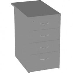 Тумба приставная Арго, 4 ящика, 44*73*74, серый