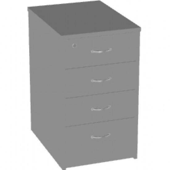 Тумба приставная Арго, 4 ящика, 44*60*74, серый