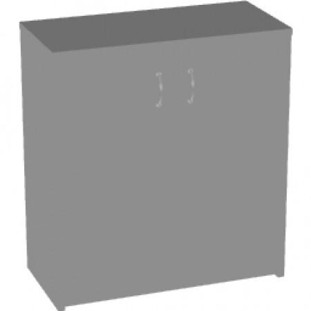 Шкаф низкий Арго, закрытый, 2 двери, 77*37*85, серый