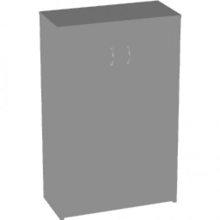 Шкаф средний Арго, закрытый, 2 двери, 77*37*122, серый