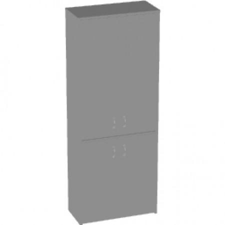 Шкаф высокий Арго, закрытый, 4 двери, 77*37*200, серый