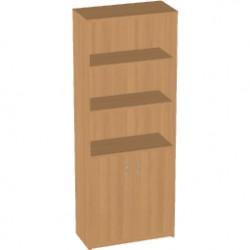 Шкаф высокий Арго А-310, 3 открытые полки, 2 двери, 77*37*200, бук