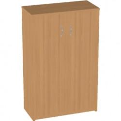 Шкаф средний Арго, закрытый, 2 двери, 77*37*122, бук