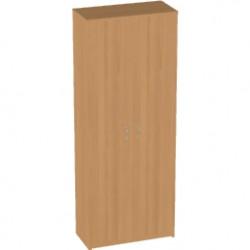 Шкаф высокий Арго, закрытый, 2 двери, 77*37*200, бук