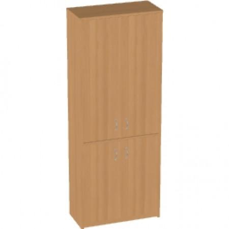 Шкаф высокий Арго, закрытый, 4 двери, 77*37*200, бук