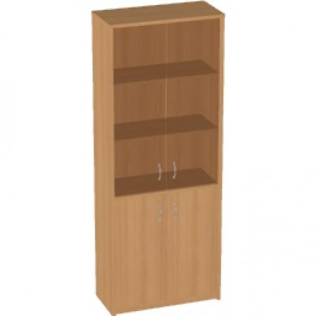 Шкаф высокий Арго, закрытый, со стеклом тонированным, 4 двери, 77*37*200, бук