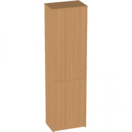 Шкаф высокий Арго, узкий, закрытый 2 двери, 55*37*200, бук