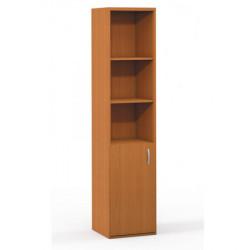 Шкаф высокий Формула 304ФР, узкий, 3 открытые полки, 1 дверь, 42*38*186, ольха