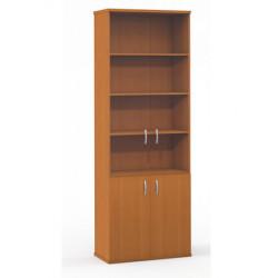 Шкаф высокий Формула 379ФР, закрытый, со стеклом, 4 двери, 80*45*219, ольха