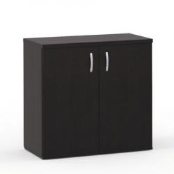 Шкаф низкий Формула 351ФР, закрытый, 2 двери, 80*45*78, венге темный, 632+350