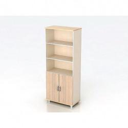 Шкаф высокий Модерн К4.18, 3 открытые полки, 2 двери, 850*440*2082, дуб шамони светлый