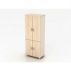 Шкаф высокий Модерн К5.18, закрытый, 4 двери, 850*440*2082, дуб шамони светлый