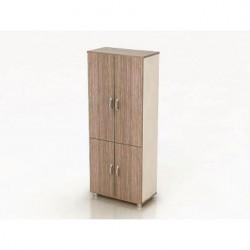 Шкаф высокий Модерн К5.19, закрытый, 4 двери, 850*440*2082, дуб шамони темный