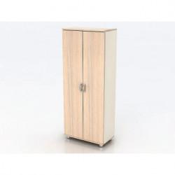 Шкаф высокий Модерн К6.18, закрытый, 2 двери, 850*440*2082, дуб шамони светлый