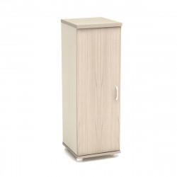 Колонка средняя Модерн К58.18, узкая, закрытая, 1 дверь, 430*442*1288, дуб шамони светлый