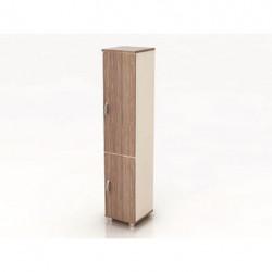 Шкаф высокий Модерн К10.19, узкий, закрытый, 2 двери, 425*440*2082, дуб шамони темный