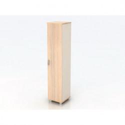 Шкаф высокий Модерн К11.18, узкий, закрытый, 1 дверь, 425*440*2082, дуб шамони светлый
