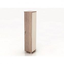 Шкаф высокий Модерн К11.19, узкий, закрытый, 1 дверь, 425*440*2082, дуб шамони темный