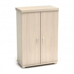 Шкаф средний Модерн К82.18, закрытый, 2 двери, 854*442*1312, дуб шамони светлый
