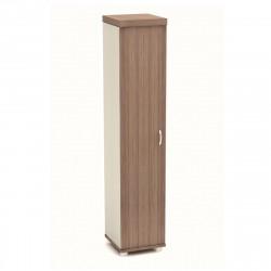 Шкаф высокий Модерн К91.19, узкий, закрытый, 1 дверь, 430*442*2106, дуб шамони темный