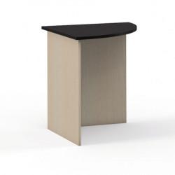 Стол угловой круглый Эдем Э-28.0Н, 700*700*750, венге новый/дуб беленый