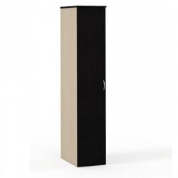 Шкаф для одежды Эдем Э-45.1Н, узкий, 1 дверь, 385*602*1945, венге новый/дуб беленый