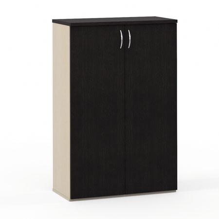 Шкаф средний Эдем, закрытый, 2 двери, 768*385*1177, венге/дуб беленый