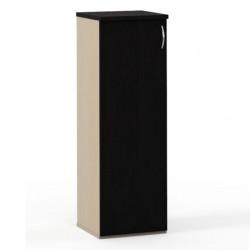 Шкаф средний Эдем, закрытый, узкий, 1 дверь, 385*385*1177, венге/дуб беленый