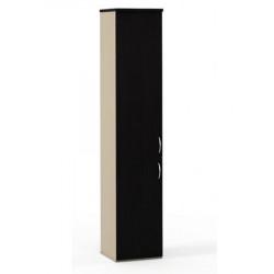 Шкаф высокий Эдем, узкий, закрытый, 2 двери, 385*385*1945, венге/дуб беленый