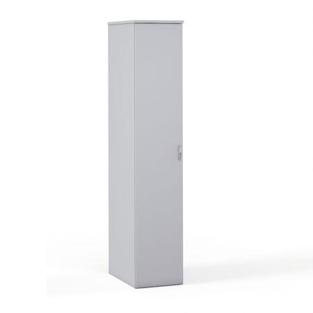 Шкаф для одежды Эдем Э-45.1, узкий 385*602*1945, платина