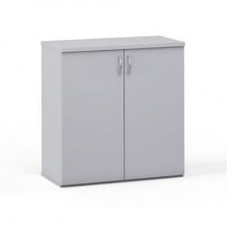Шкаф низкий закрытый Эдем, 2 двери, 768*385*801,  платина