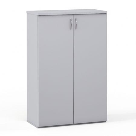 Шкаф средний закрытый Эдем, 2 двери, т 768*385*1177, платина