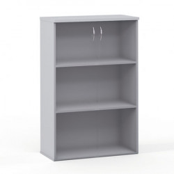 Шкаф средний со стеклом Эдем, 2 двери, 768*385*1177, платина