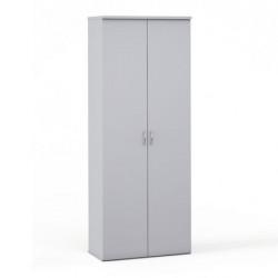 Шкаф высокий закрытый Эдем, 2 двери, 768*385*1945, платина