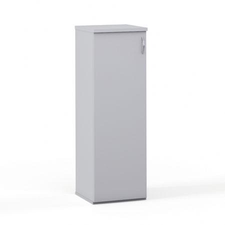 Шкаф средний закрытый Эдем, узкий 1 дверь, 385*385*1177, платина