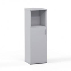 Шкаф средний 1 открытая полка Эдем, узкий, 1 дверь, 385*385*1177, платина