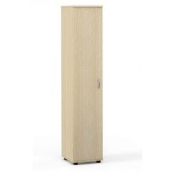 Шкаф высокий Лайт, узкий, закрытый, 1 дверь, 364*359*1793, дуб молочный
