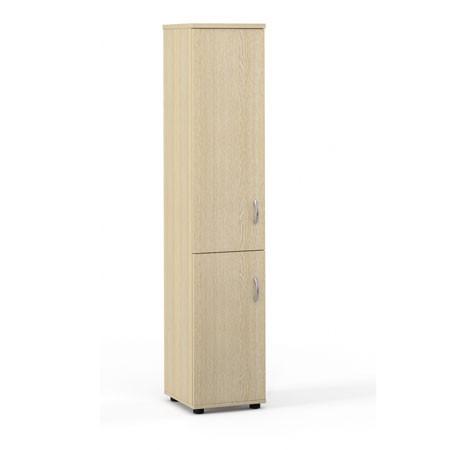 Шкаф высокий Лайт, узкий, закрытый, 2 двери, 364*359*1793, дуб молочный
